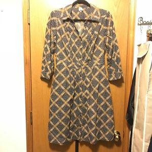 Maeve Button Down Corduroy Dress